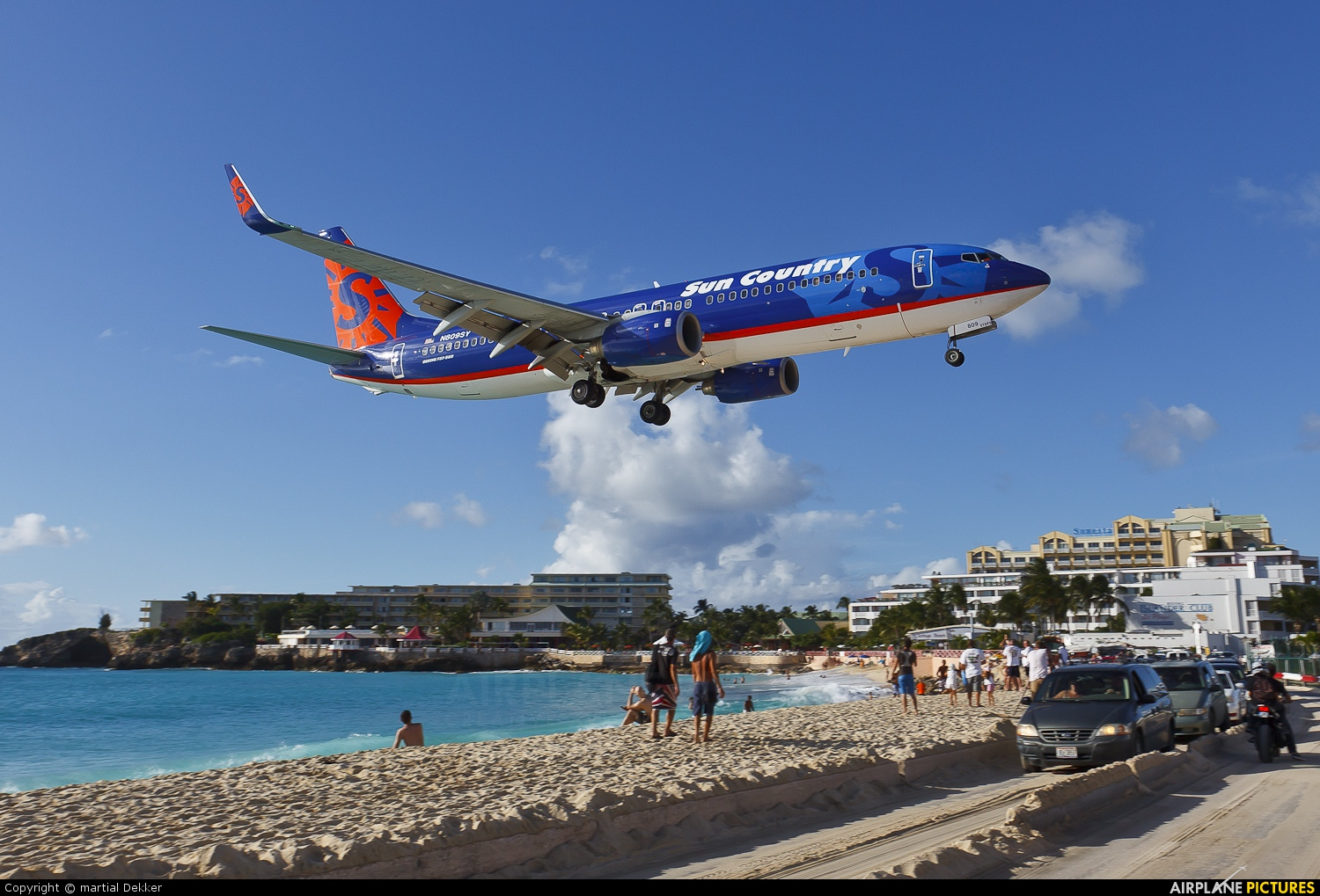 Sun Country Airlines N809SY aircraft at Sint Maarten - Princess Juliana Intl