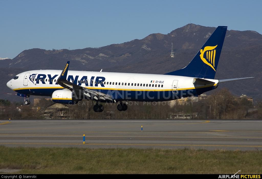 Ryanair EI-DLE aircraft at Bergamo - Orio al Serio