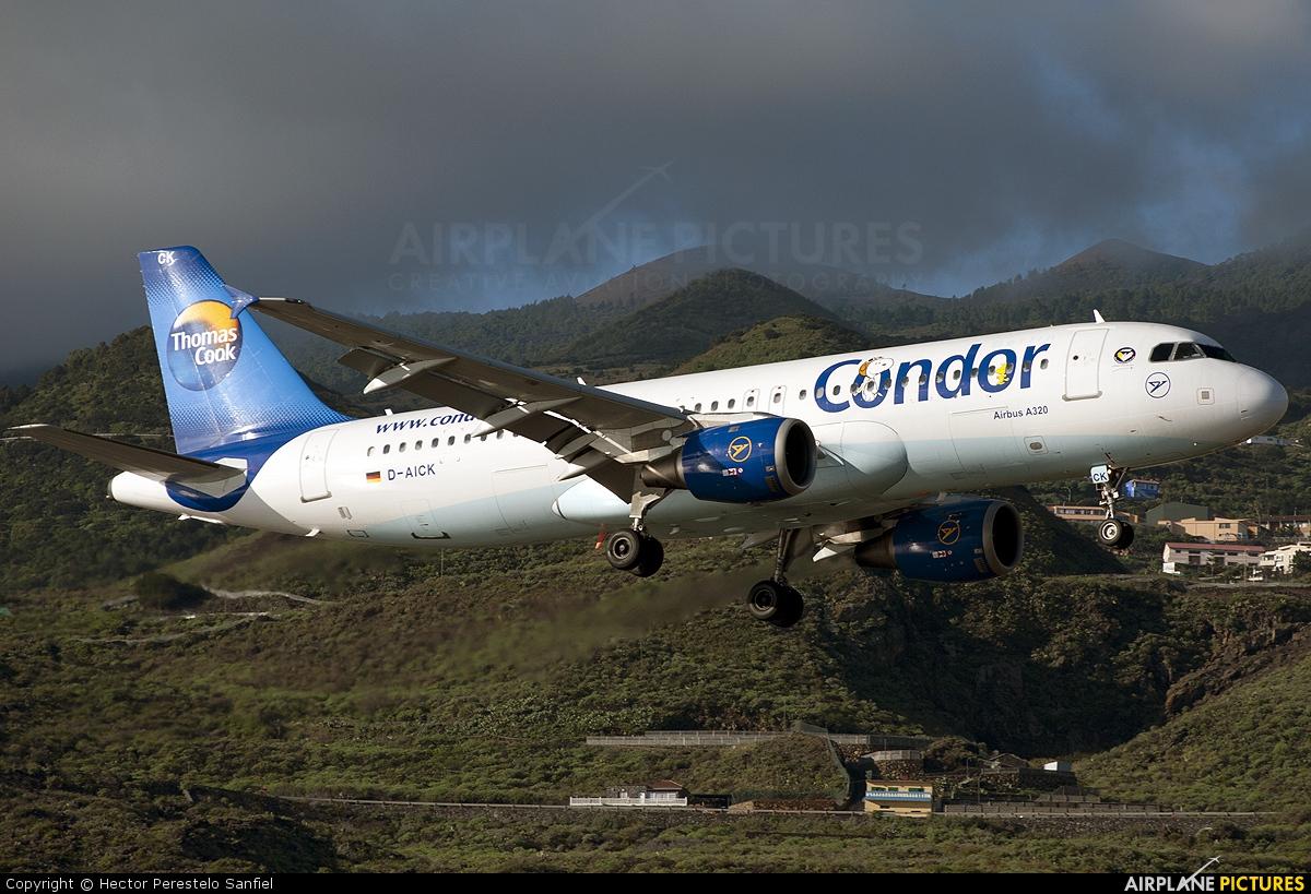 Condor D-AICK aircraft at Santa Cruz de La Palma