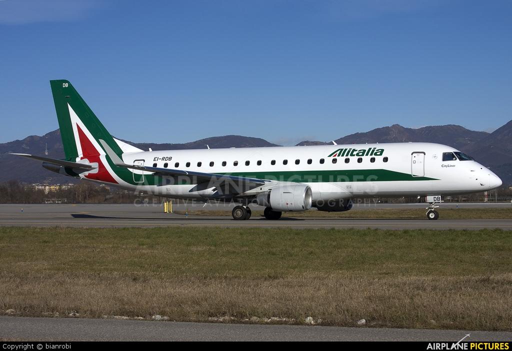 Alitalia EI-RDB aircraft at Bergamo - Orio al Serio