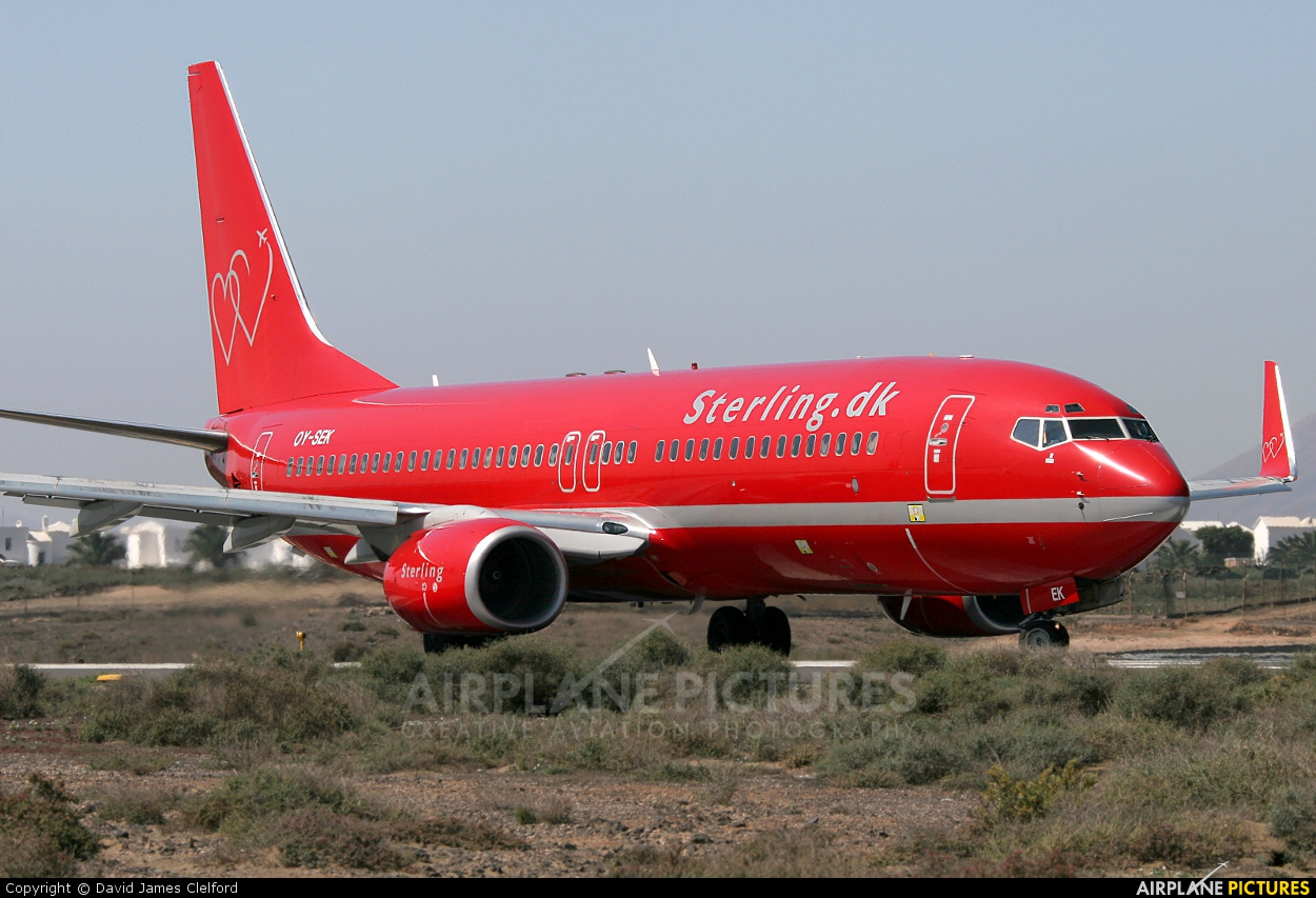 Sterling OY-SEK aircraft at Lanzarote - Arrecife