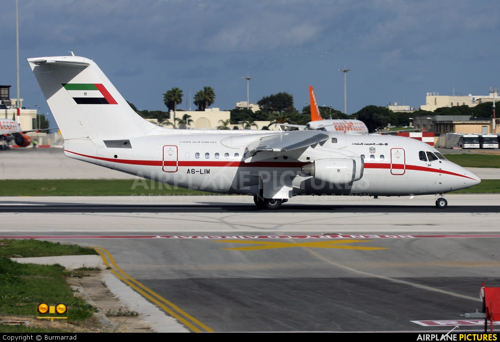 United Arab Emirates - Government A6-LIW aircraft at Malta Intl