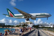 First Alitalia B777 lands at St. Maarten title=