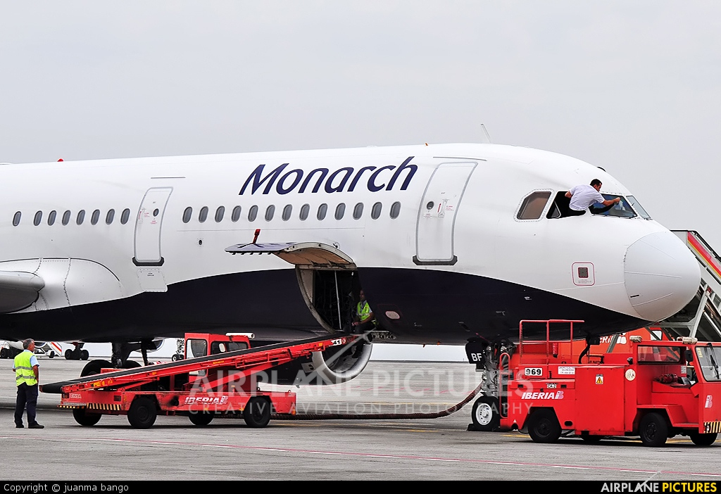 Monarch Airlines G-OZBF aircraft at Tenerife Sur - Reina Sofia