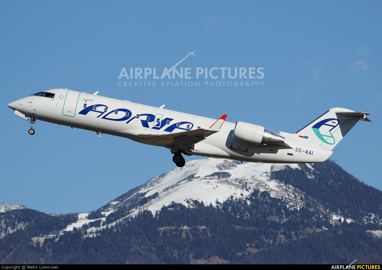 Adria Airways S5-AAI aircraft at Ljubljana - Brnik