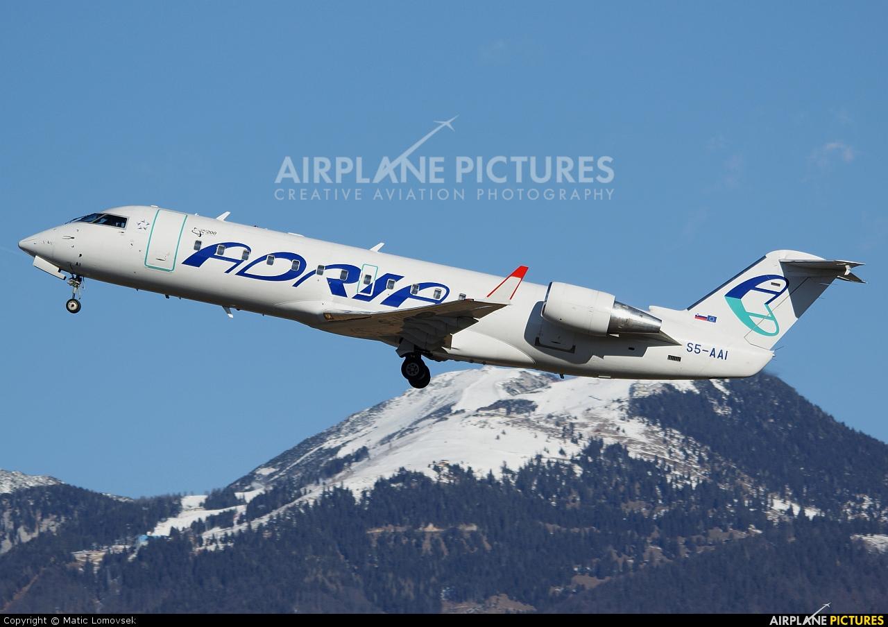 Adria Airways S5-AAI aircraft at Ljubljana - Brnik