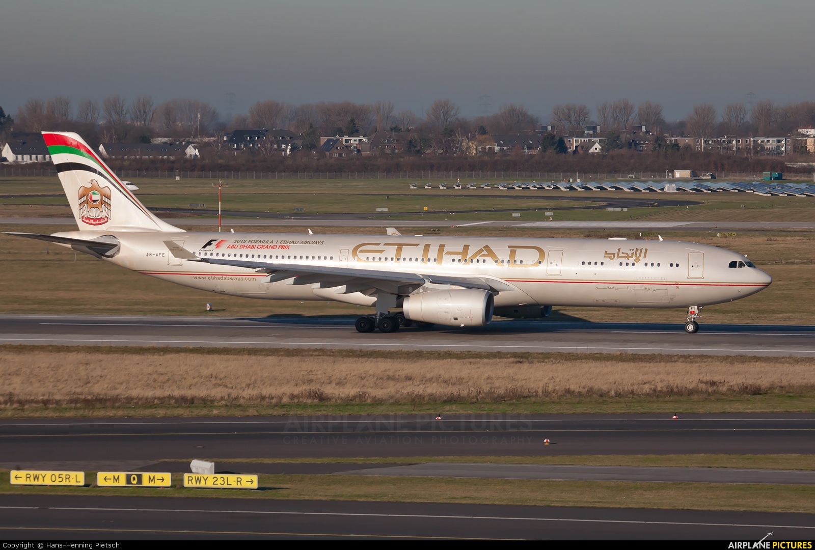 Etihad Airways A6-AFE aircraft at Düsseldorf