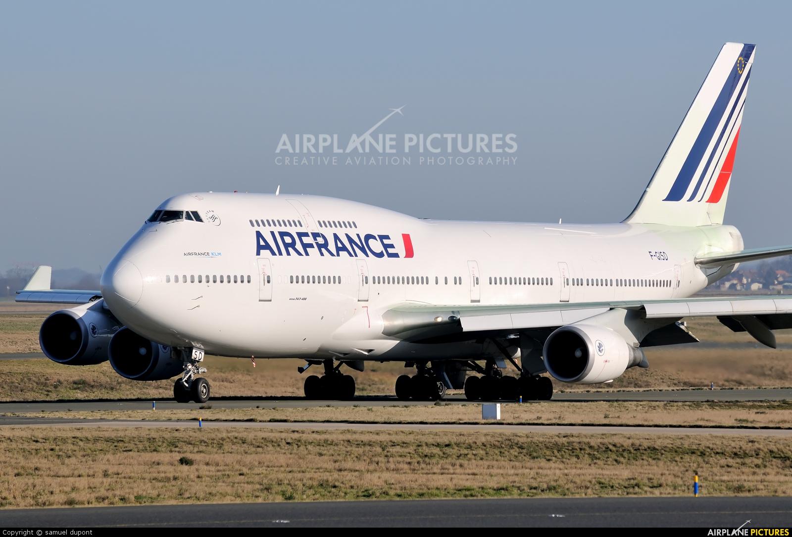 F gisd air france boeing 747 400 at paris charles de for Interieur 747 air france