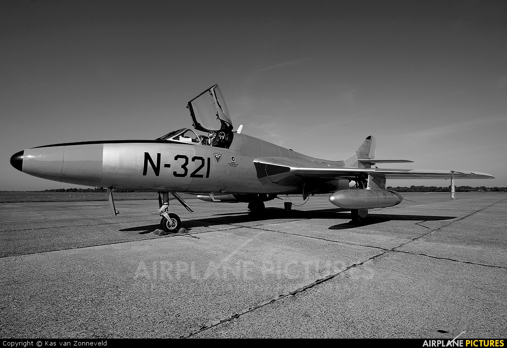 Dutch Hawker Hunter Foundation G-BWGL aircraft at Groningen - Eelde