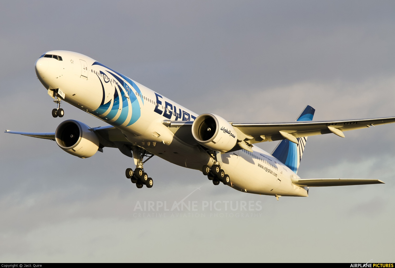 Egyptair SU-GDL aircraft at London - Heathrow