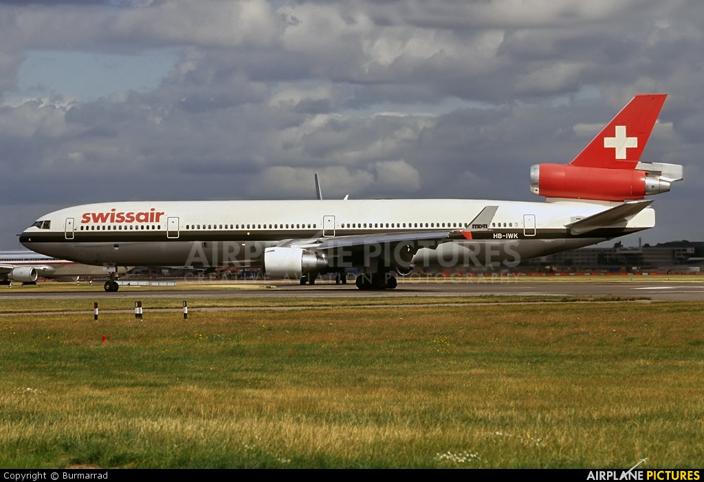 Swissair HB-IWK aircraft at London - Heathrow