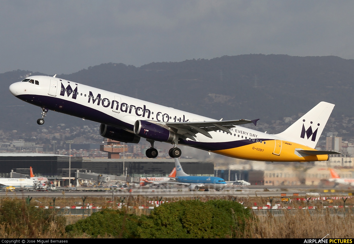 Monarch Airlines G-OZBT aircraft at Barcelona - El Prat