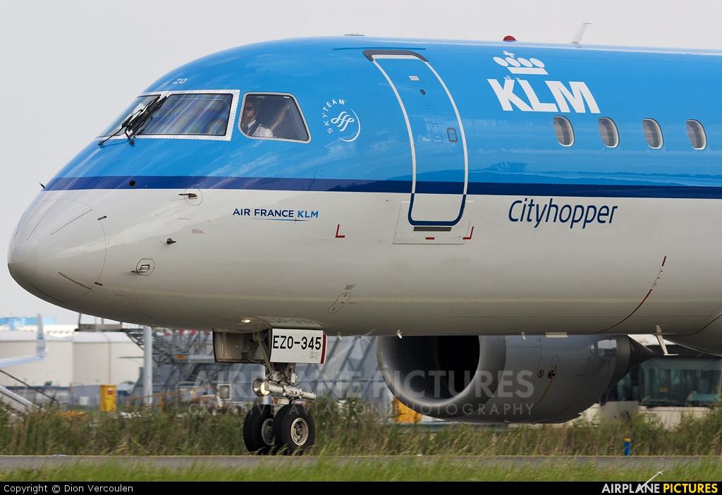 KLM Cityhopper PH-EZO aircraft at Amsterdam - Schiphol