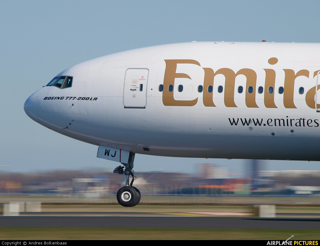 Emirates Airlines A6-EWJ aircraft at Amsterdam - Schiphol