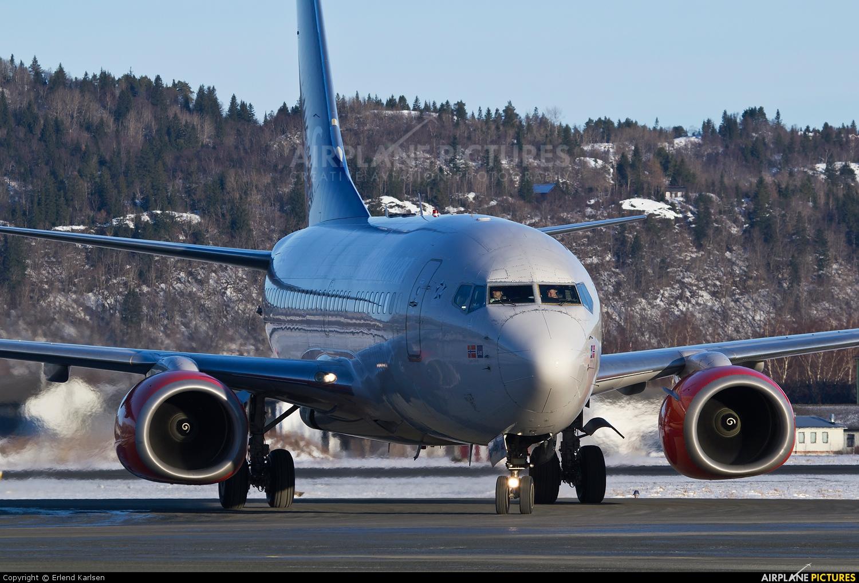 SAS - Braathens LN-RRY aircraft at Trondheim - Vaernes