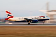 G-EUPE - British Airways Airbus A319 aircraft