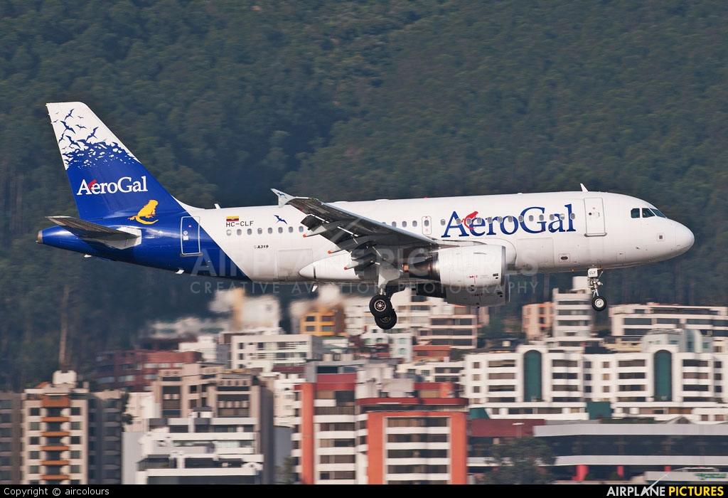 Aerogal HC-CLF aircraft at Quito - Mariscal Sucre