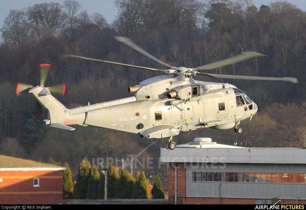 Royal Navy ZH829 aircraft at Yeovil