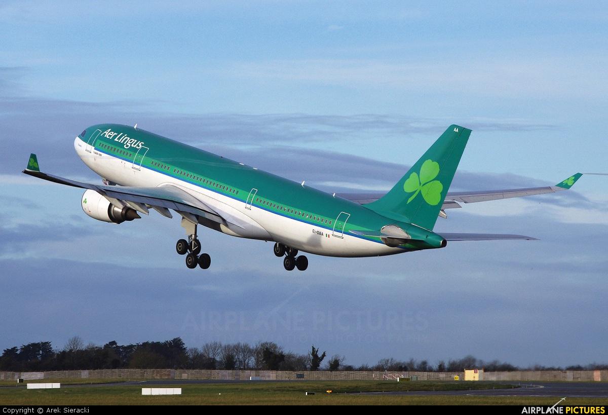 Aer Lingus EI-DAA aircraft at Dublin