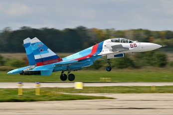 "66 - Russia - Air Force ""Falcons of Russia"" Sukhoi Su-27UB"