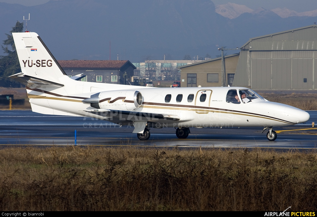 Private YU-SEG aircraft at Verona - Villafranca
