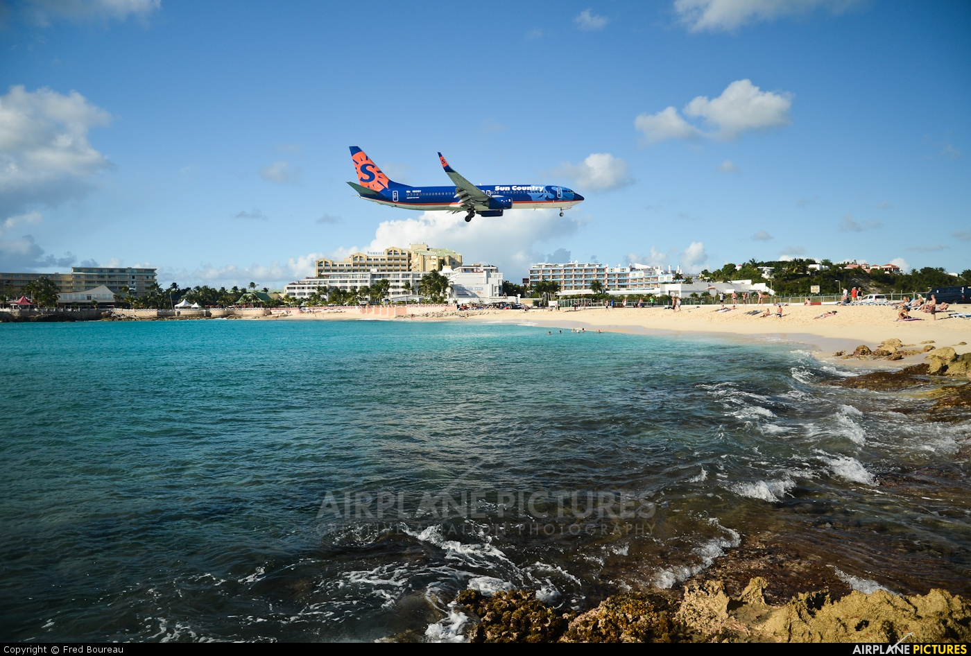 Sun Country Airlines N801SY aircraft at Sint Maarten - Princess Juliana Int
