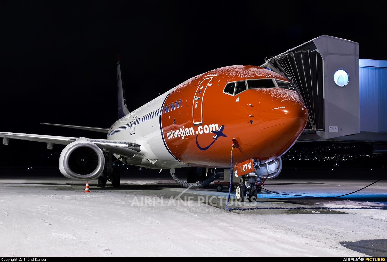 Norwegian Air Shuttle LN-DYW aircraft at Trondheim - Vaernes
