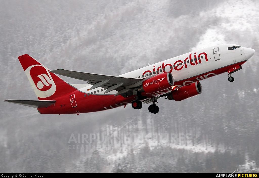 Air Berlin D-ABBW aircraft at Innsbruck