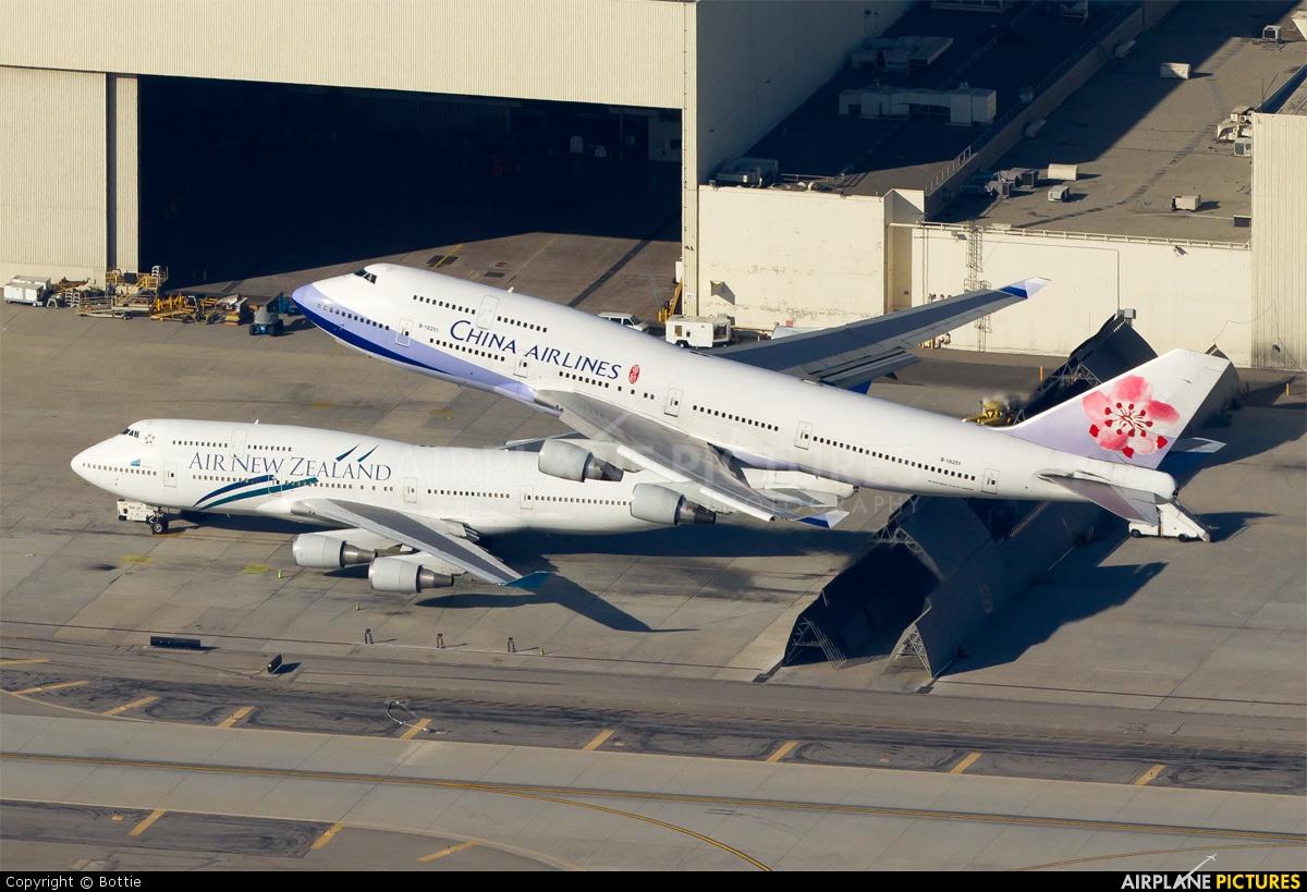 China Airlines B-18251 aircraft at Los Angeles Intl
