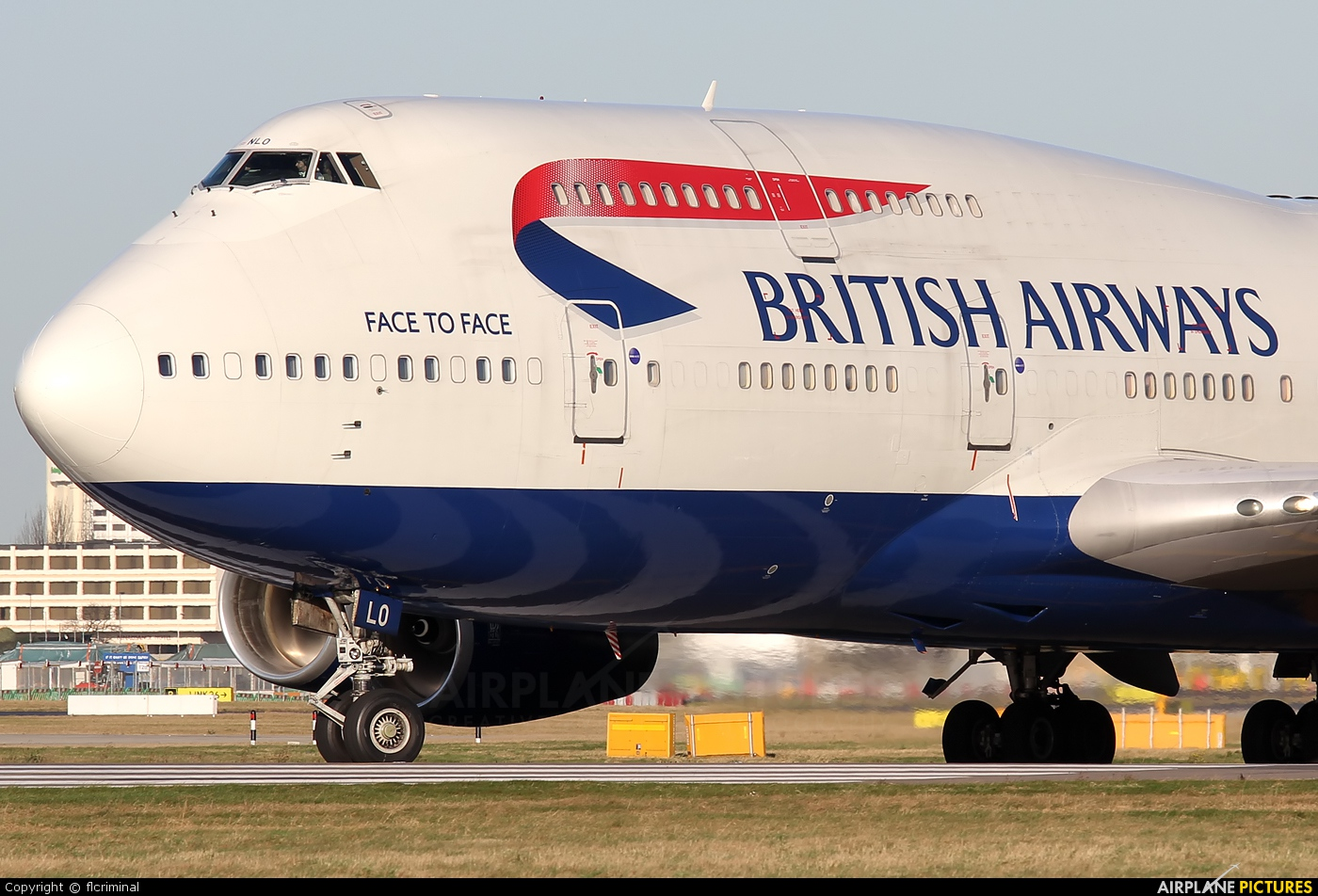 British Airways G-BNLO aircraft at London - Heathrow