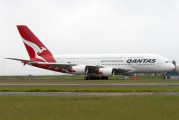 Qantas - rare A380 visit to Auckland title=