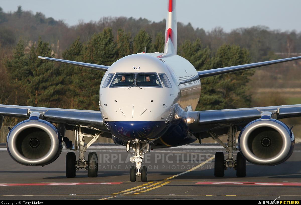 British Airways - City Flyer G-LCYJ aircraft at Edinburgh