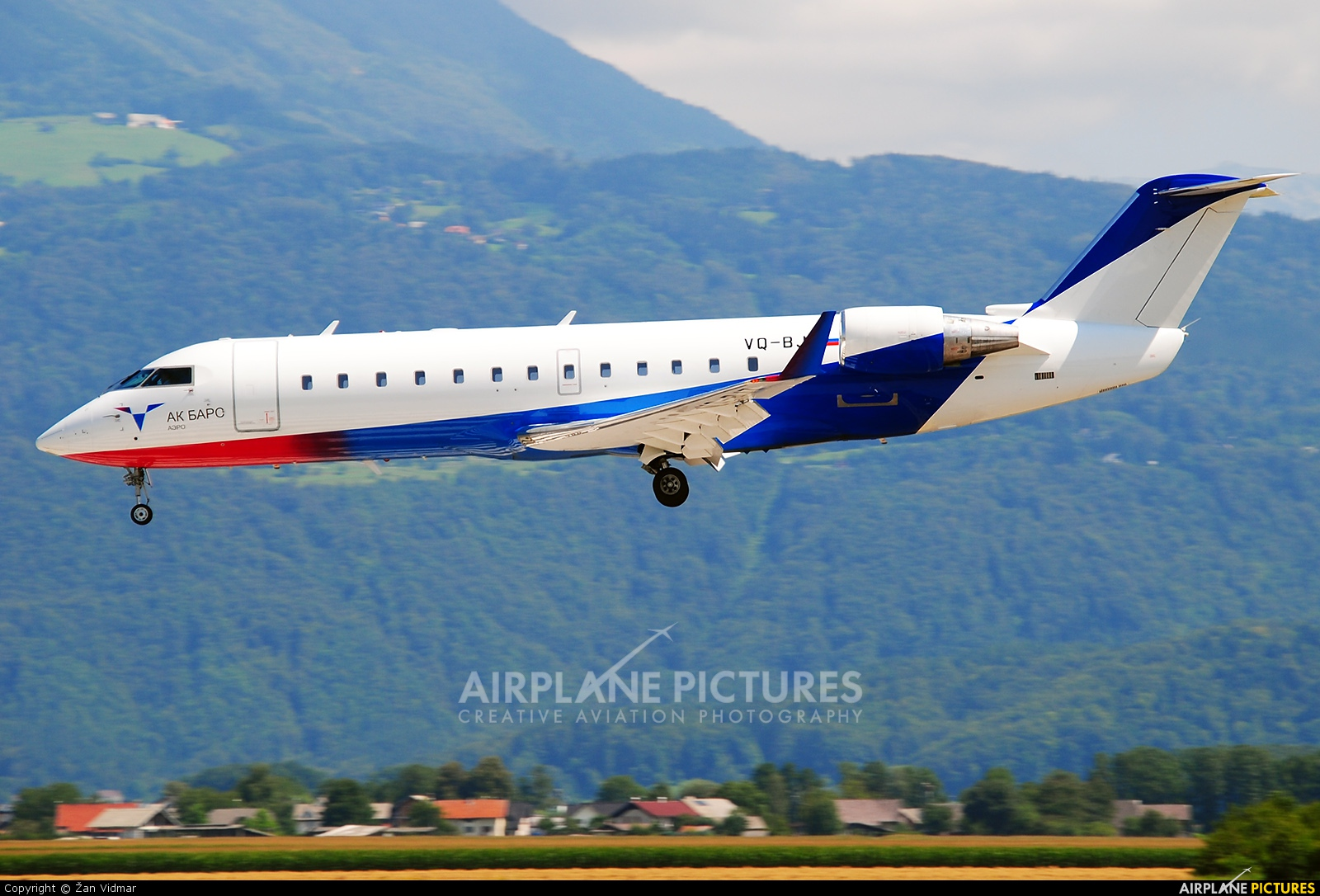 AK Bars Aero VQ-BJZ aircraft at Ljubljana - Brnik