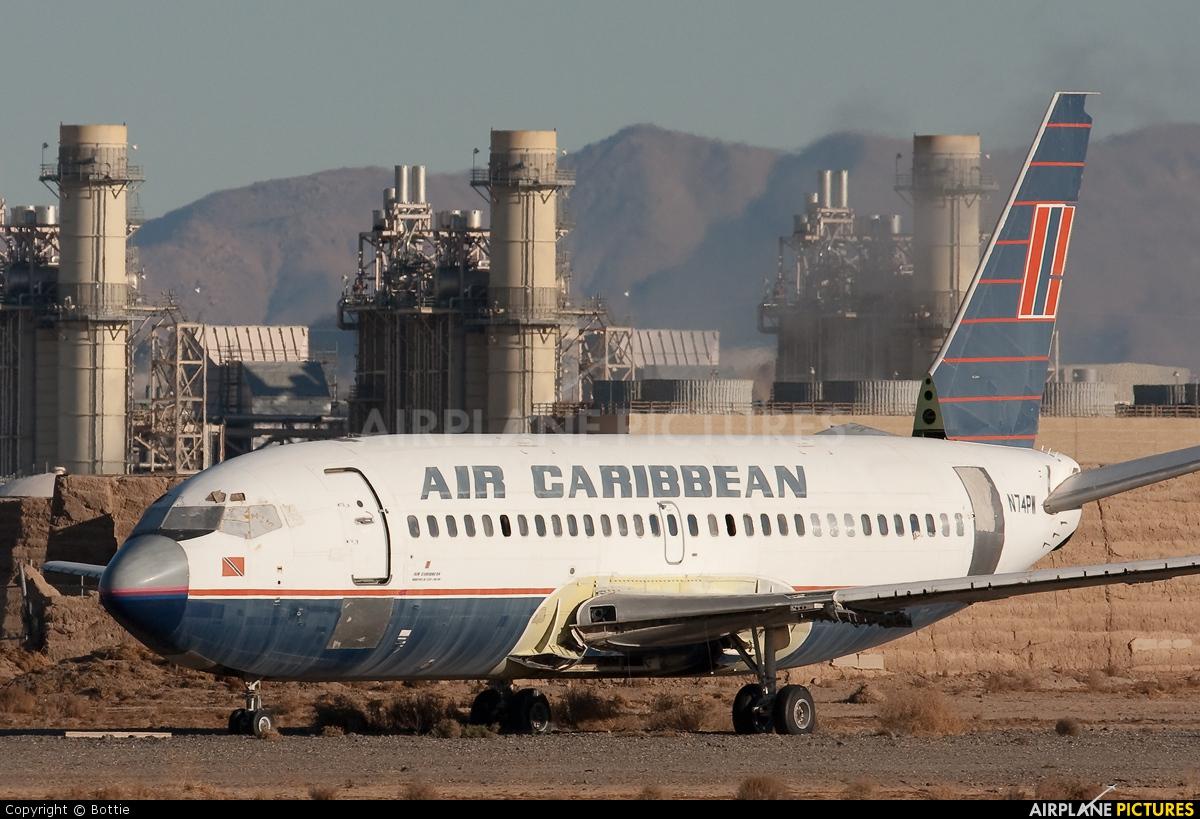 Air Caribbean N74PW aircraft at Victorville - Southern California Logistics