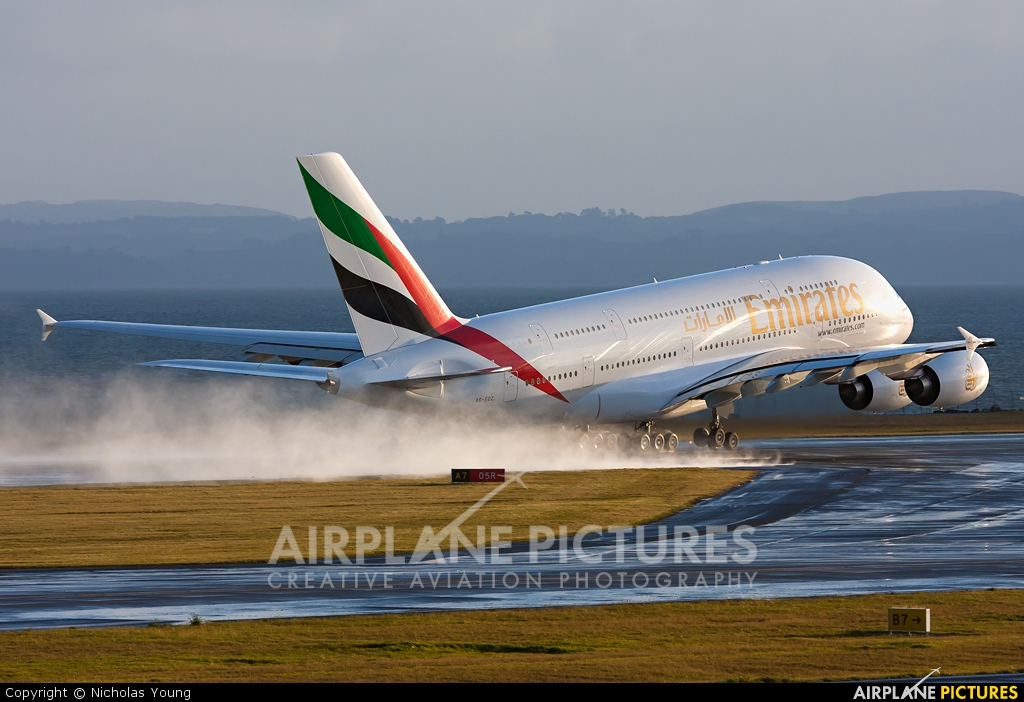 Emirates Airlines A6-EDZ aircraft at Auckland Intl