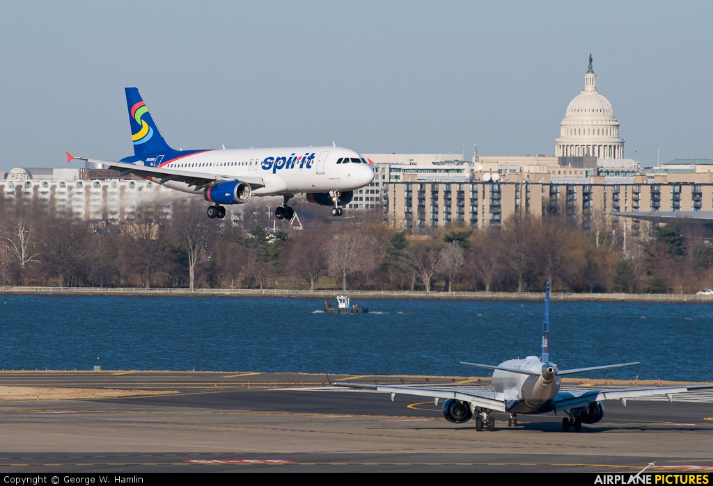 Spirit Airlines N608NK aircraft at Washington - Ronald Reagan National