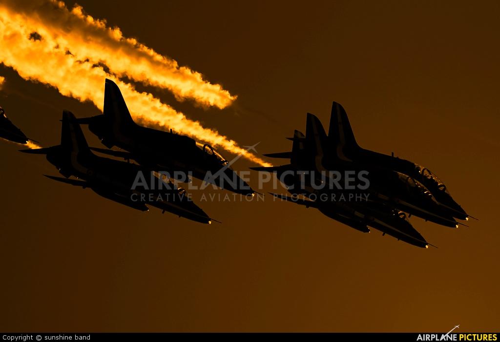 "Royal Air Force ""Red Arrows"" XX323 aircraft at Scampton"