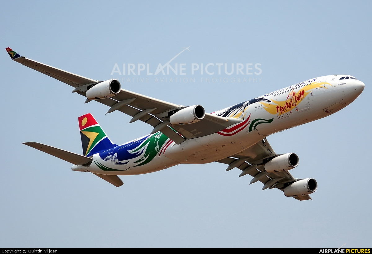South African Airways ZS-SXD aircraft at Waterkloof