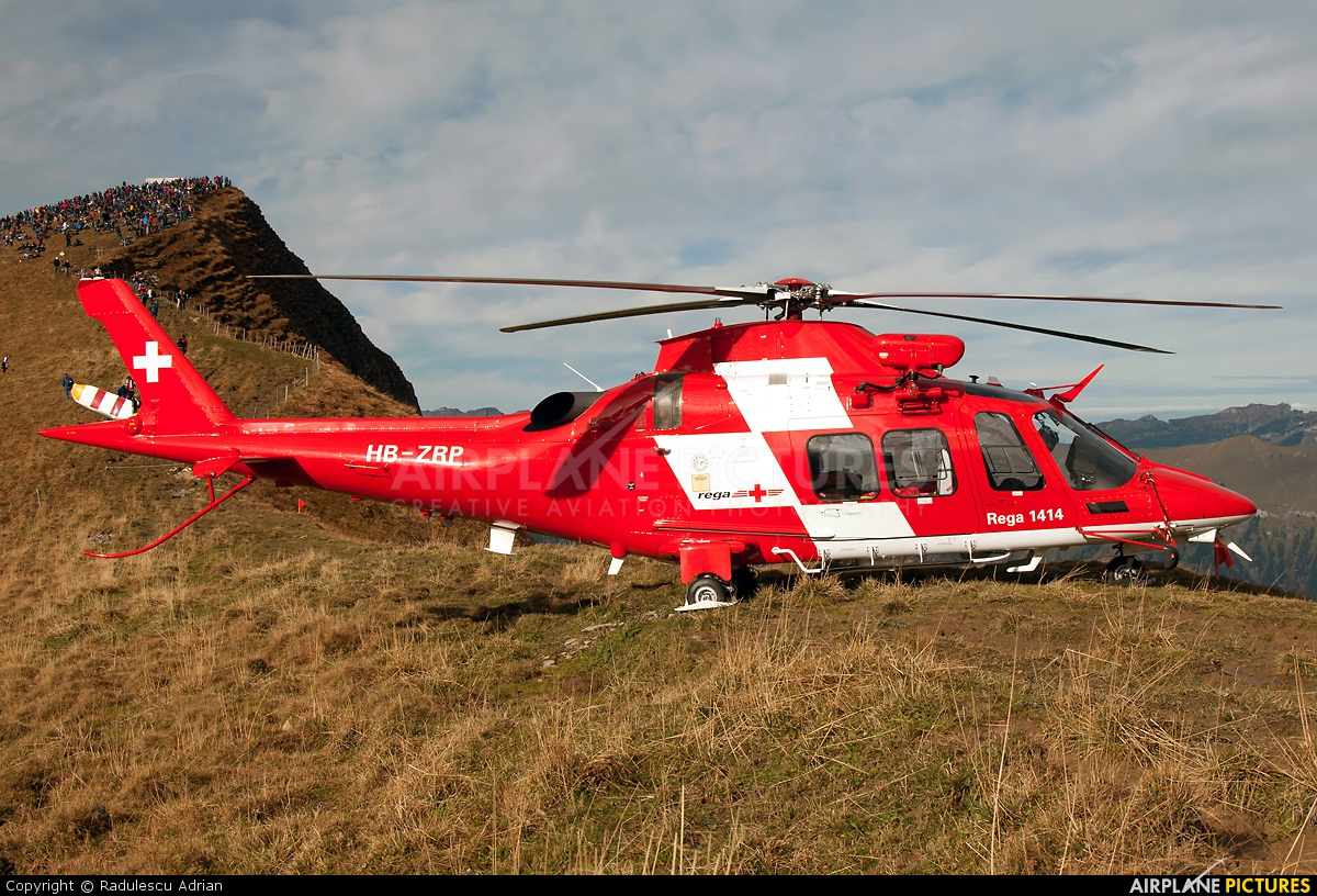 REGA Swiss Air Ambulance  HB-ZRP aircraft at Axalp - Ebenfluh Range