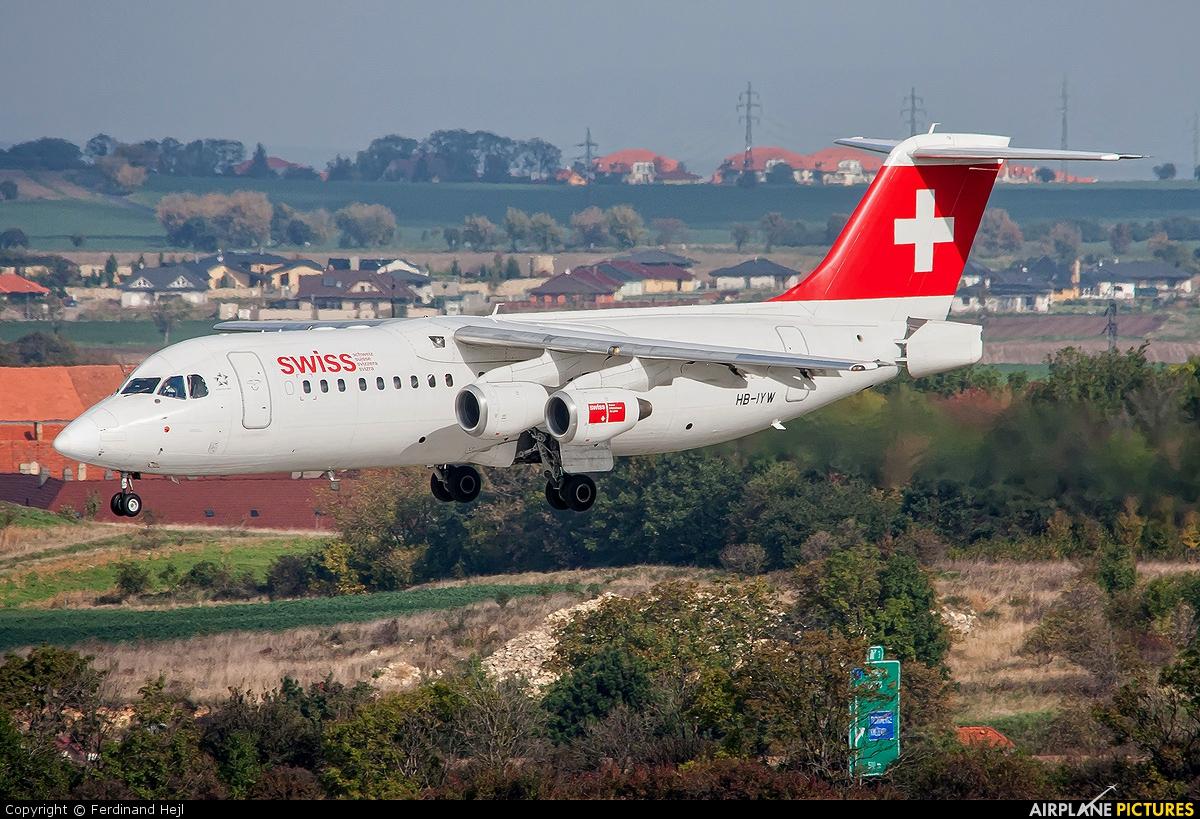 Swiss HB-IYW aircraft at Prague - Václav Havel