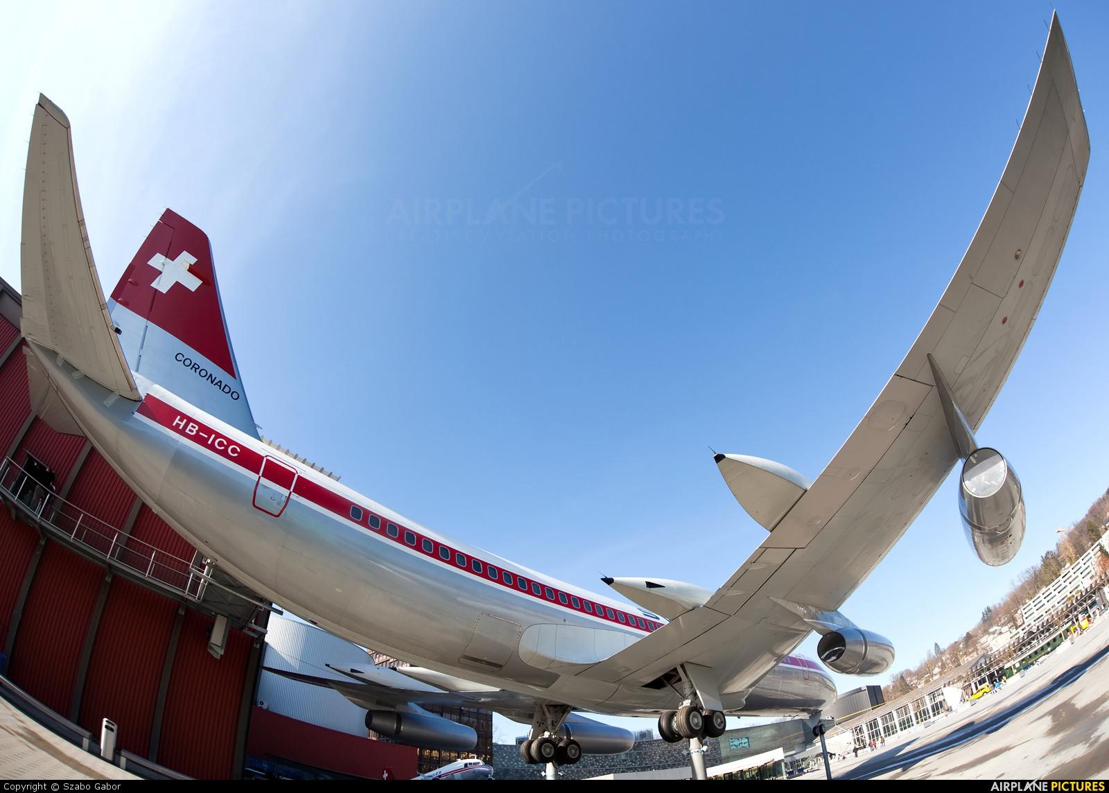 Swissair HB-ICC aircraft at Lucerne - Swiss Transport Museum