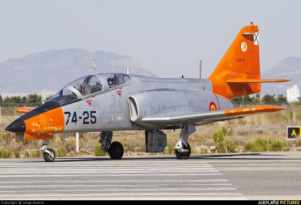 Spain - Air Force E.25-71 aircraft at Murcia - San Javier