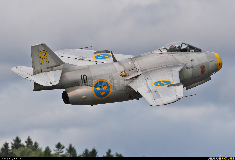 SE DXB Swedish Air Force Historic Flight SAAB J 29F Tunnan at Göteborg City Säve Photo ID