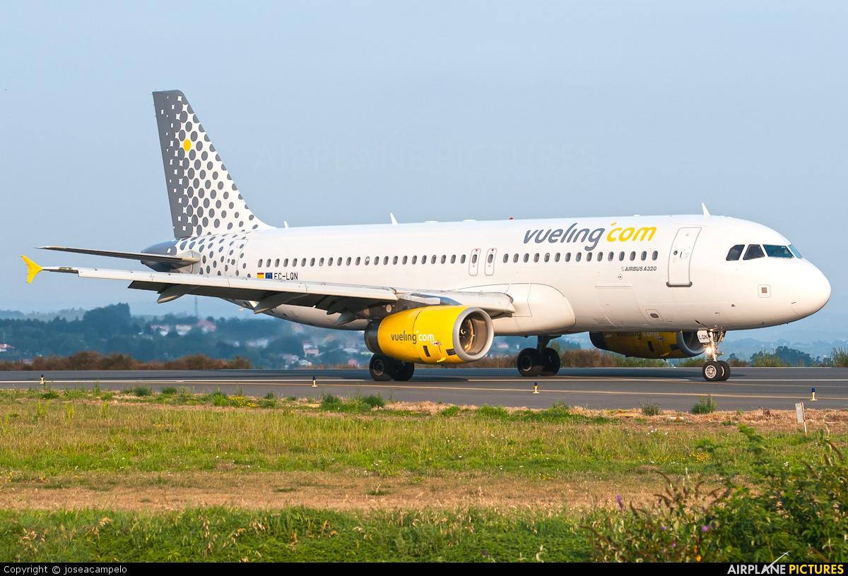 Vueling Airlines EC-LQN aircraft at La Coruña