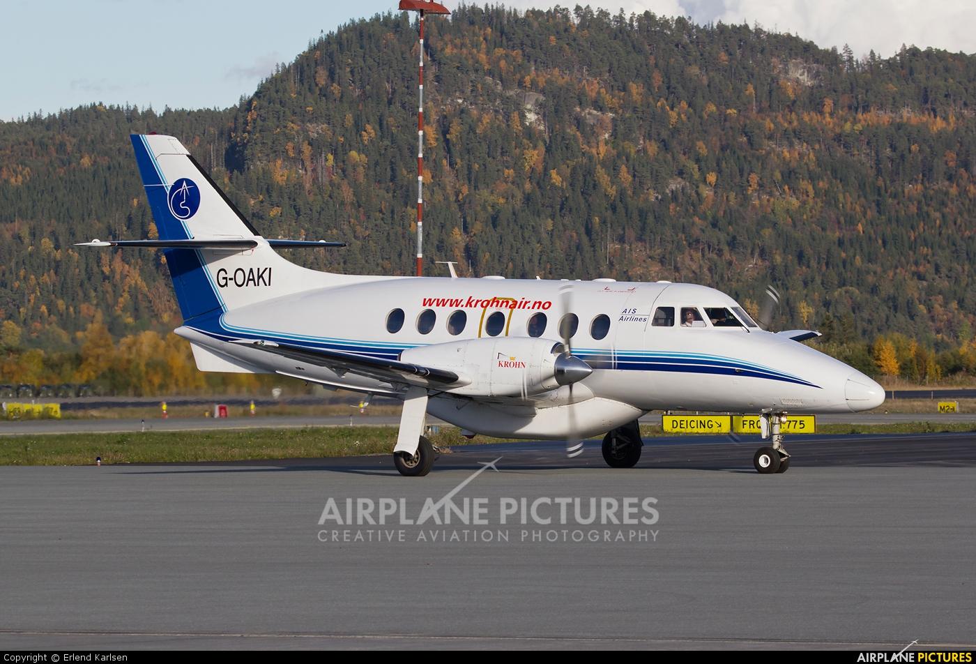 AIS Airlines G-OAKI aircraft at Trondheim - Vaernes