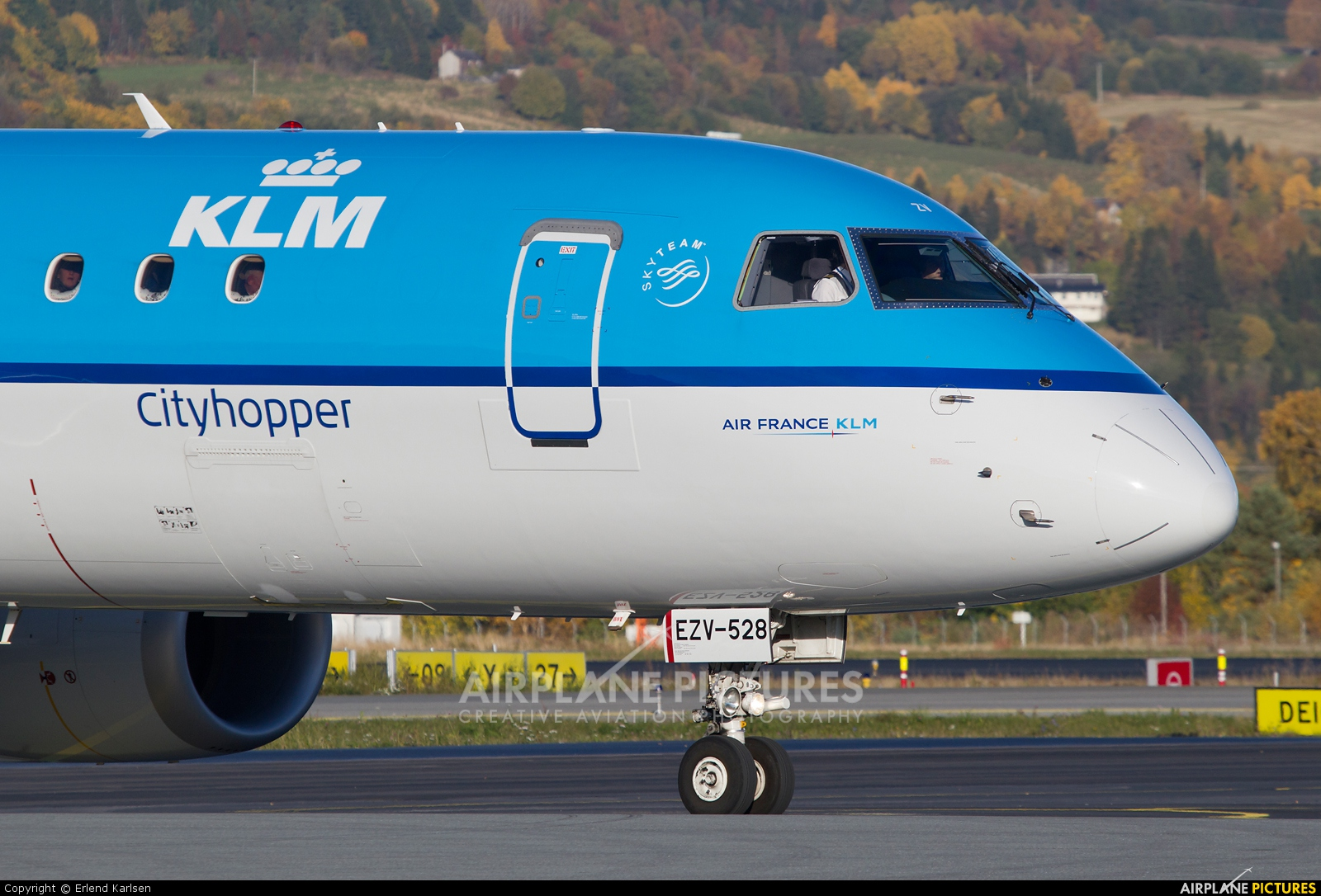KLM Cityhopper PH-EZV aircraft at Trondheim - Vaernes