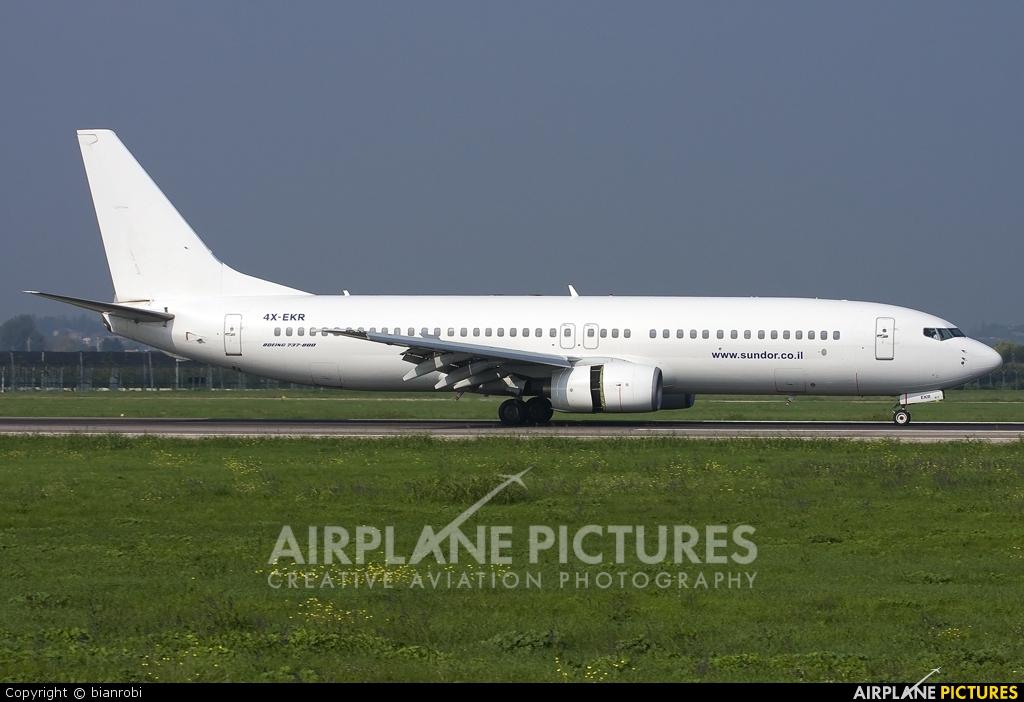El Al Israel Airlines 4X-EKR aircraft at Verona - Villafranca