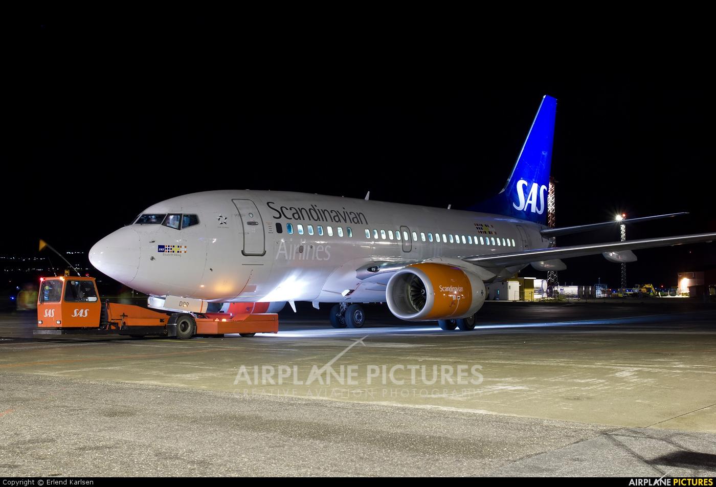 SAS - Scandinavian Airlines SE-DOR aircraft at Trondheim - Vaernes