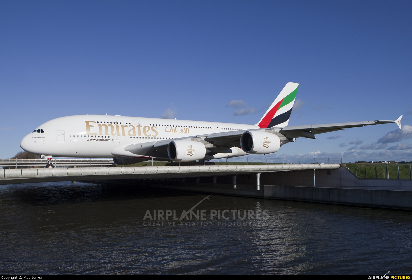 Emirates Airlines A6-EDV aircraft at Amsterdam - Schiphol