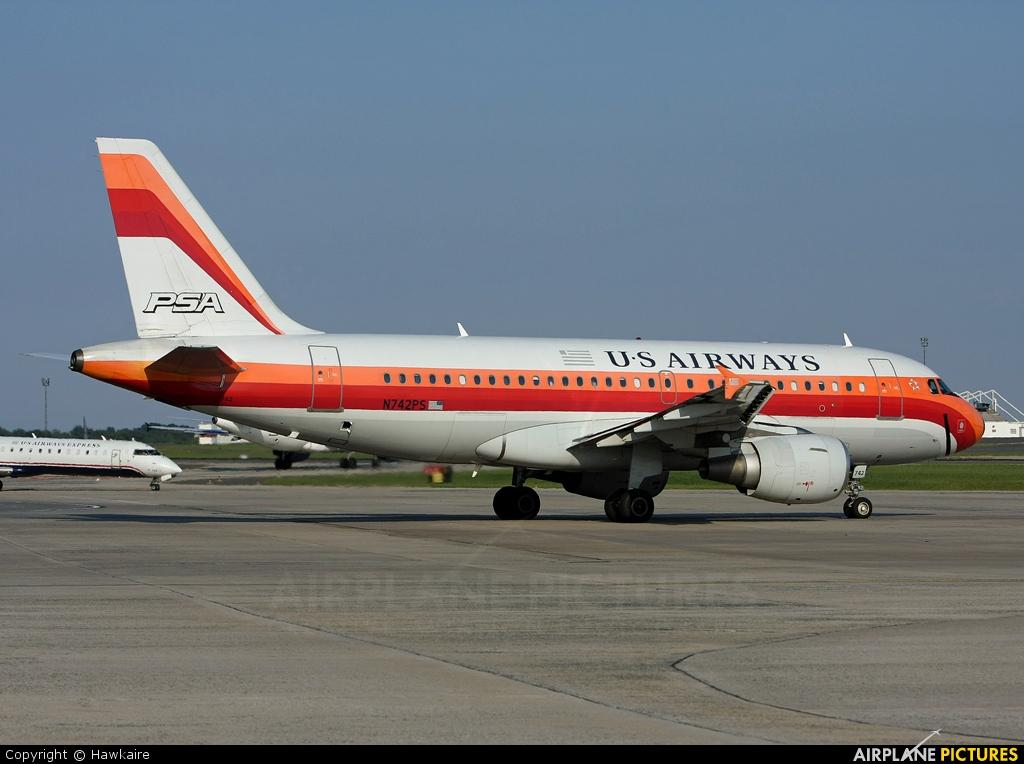 US Airways N742PS aircraft at Charlotte - Douglas Intl